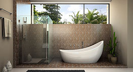 Shower screens, mirrors and robes available at Pearl Coast Glass